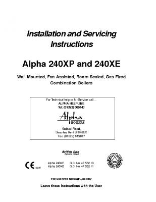 Alpha 240 XP & 240 XE 47-532-10