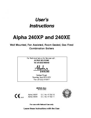 Alpha 240XP & 240XE 47-532-10