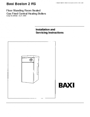 Baxi Boston 2 70 RS 41-077-88