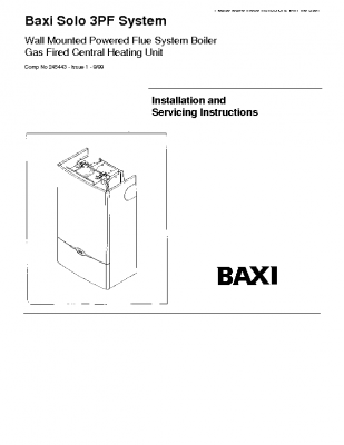 Baxi Solo 3 80PF System 41-075-17