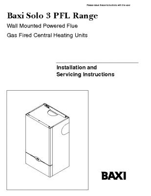 Baxi Solo 3 PFL Range 41-075-20