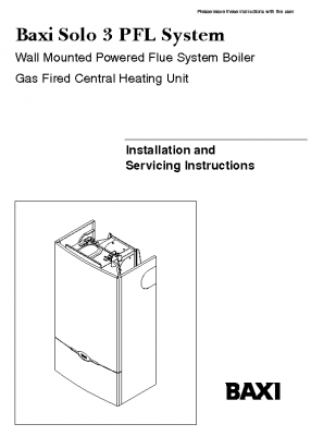 Baxi Solo 3 PFL System 41-075-25