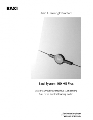 Baxi System 100 HE Plus 41-075-43
