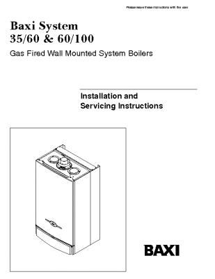 Baxi System 35-60 & 60-100 41-075-15