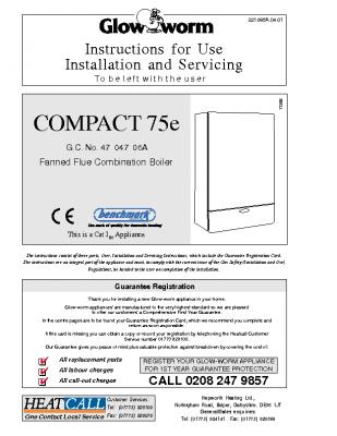 Glow Worm Compact 75e 47-047-06A