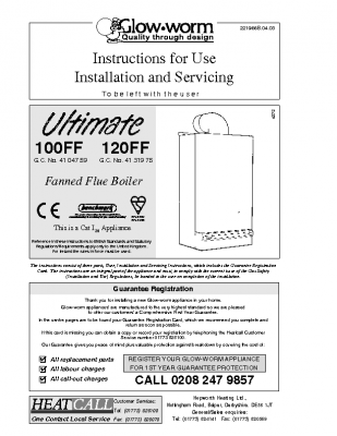 Glow Worm Ultimate 100FF 41-047-59