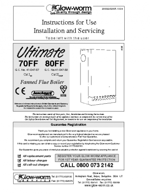 Glow Worm Ultimate 70FF 41-047-57