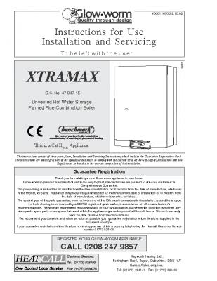 Glow Worm Xtramax 47-047-15