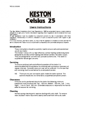 Keston Celius 25 User
