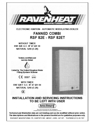 Ravenheat RSF 82E 47-581-18