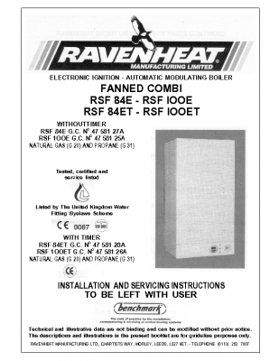 Ravenheat RSF 84E 47-581-27A
