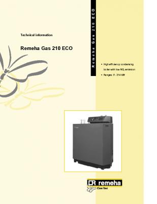 Remeha gas 210 eco 8-214kw