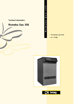 Remeha gas 350 64-174kw