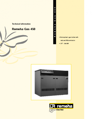 Remeha gas 450 217-344kw