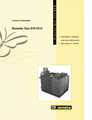 Remeha gas 610 eco
